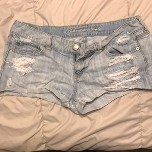 Light wash short shorts from American eagle